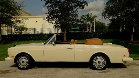 1988 Rolls-Royce Corniche for sale at Premier Luxury Cars in Oakland Park FL