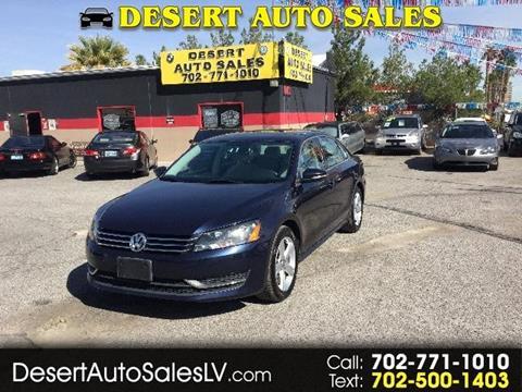 2012 Volkswagen Passat for sale in Las Vegas, NV