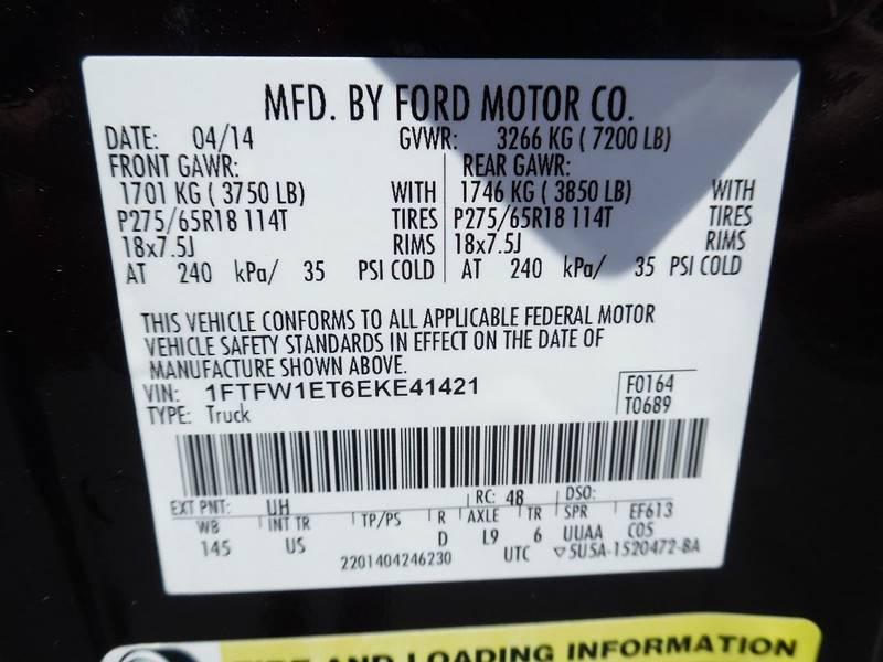 2014 Ford F-150 4x4 XLT 4dr SuperCrew Styleside 5.5 ft. SB - Broken Arrow OK