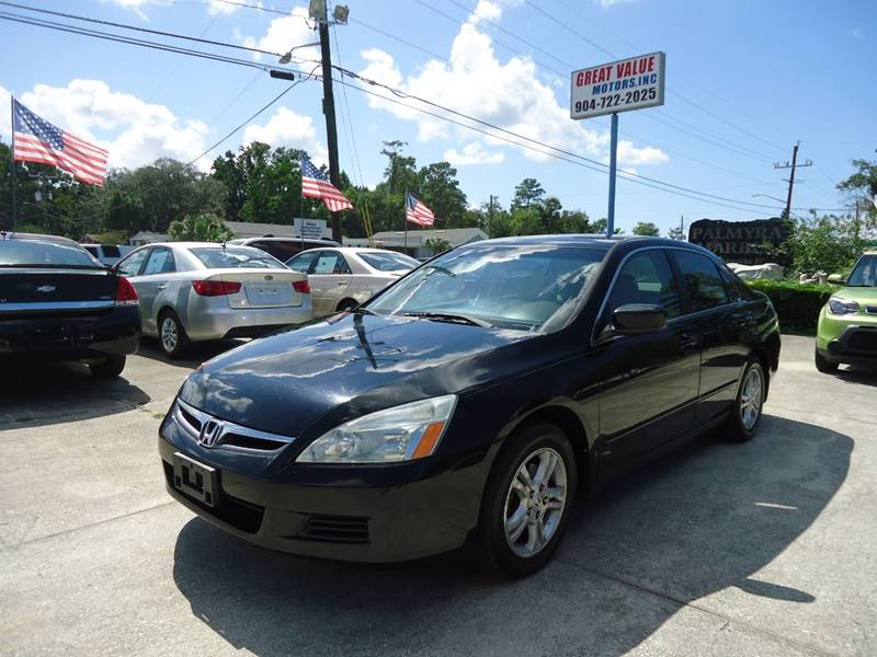 2007 Honda Accord For Sale At GREAT VALUE MOTORS In Jacksonville FL