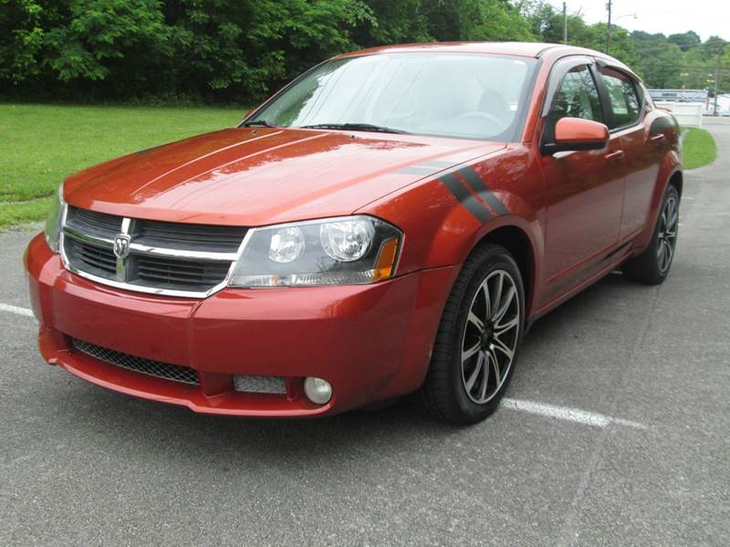 2008 DODGE AVENGER RT AWD 4DR SEDAN orange all wheel drive rt  automatic cold air black out