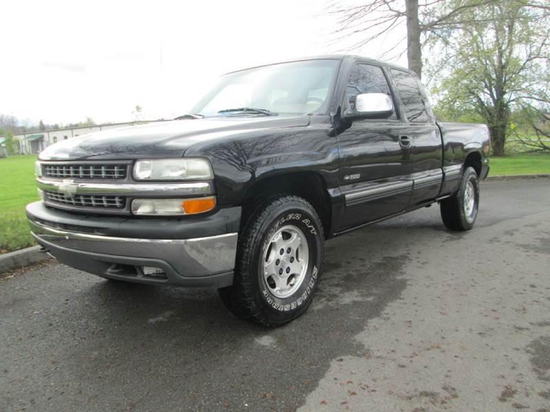 1999 CHEVROLET SILVERADO 1500 LS 3DR 4WD EXTENDED CAB SB black abs - 4-wheel anti-theft system -