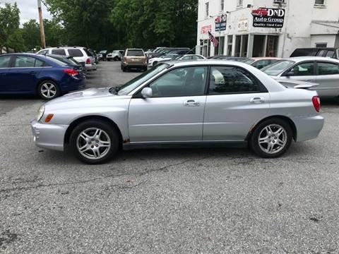 2002 Subaru Impreza for sale at DND AUTO GROUP in Belvidere NJ