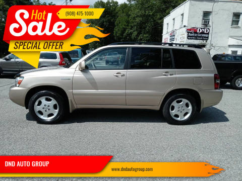 2005 Toyota Highlander for sale at DND AUTO GROUP in Belvidere NJ