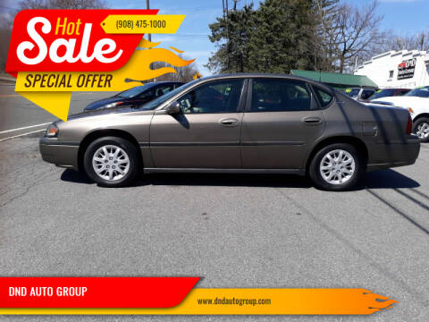 2003 Chevrolet Impala for sale at DND AUTO GROUP in Belvidere NJ