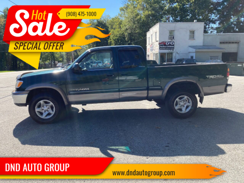 2001 Toyota Tundra for sale at DND AUTO GROUP in Belvidere NJ