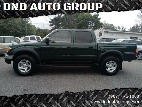 2002 Toyota Tacoma for sale at DND AUTO GROUP 2 in Asbury NJ