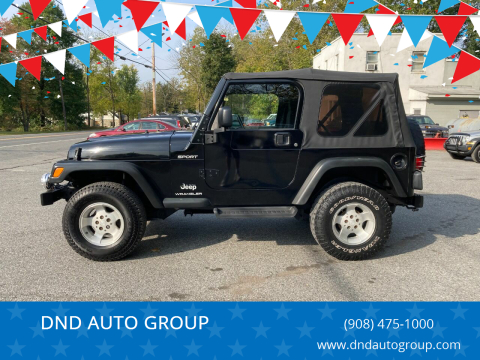2003 Jeep Wrangler for sale at DND AUTO GROUP in Belvidere NJ