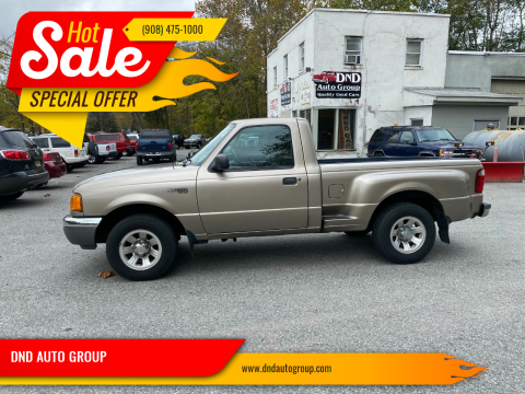 2003 Ford Ranger for sale at DND AUTO GROUP 2 in Asbury NJ