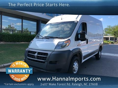 2018 RAM ProMaster Cargo for sale in Raleigh, NC