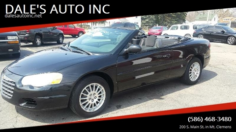 2004 Chrysler Sebring for sale at DALE'S AUTO INC in Mt Clemens MI