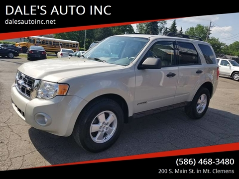 2008 Ford Escape for sale at DALE'S AUTO INC in Mt Clemens MI