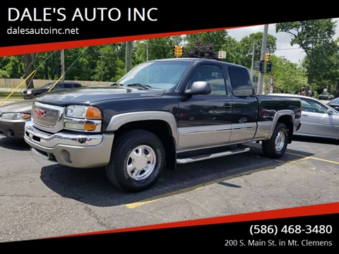 2003 GMC Sierra 1500 for sale at DALE'S AUTO INC in Mount Clemens MI