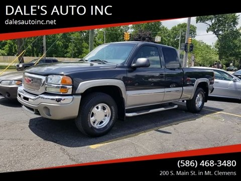 2003 GMC Sierra 1500 for sale at DALE'S AUTO INC in Mt Clemens MI
