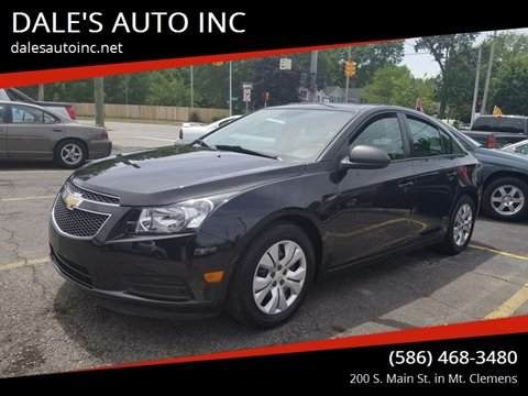 2014 Chevrolet Cruze for sale at DALE'S AUTO INC in Mt Clemens MI