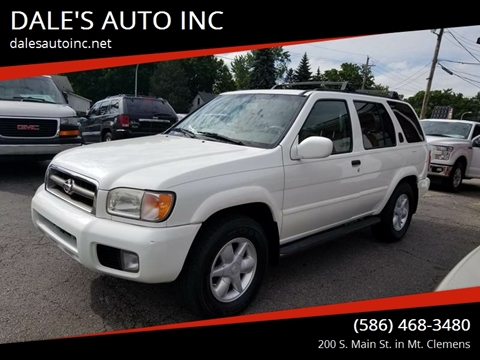 2001 Nissan Pathfinder for sale at DALE'S AUTO INC in Mt Clemens MI