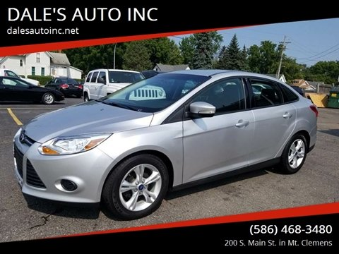 2014 Ford Focus for sale at DALE'S AUTO INC in Mt Clemens MI