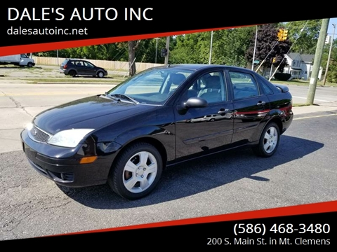 2006 Ford Focus for sale at DALE'S AUTO INC in Mt Clemens MI