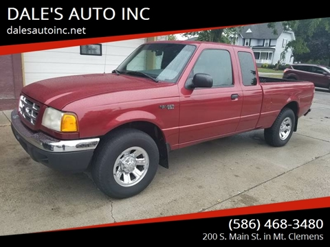 2002 Ford Ranger for sale at DALE'S AUTO INC in Mt Clemens MI