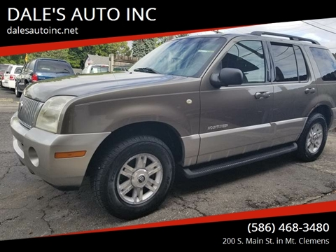 2002 Mercury Mountaineer for sale at DALE'S AUTO INC in Mt Clemens MI