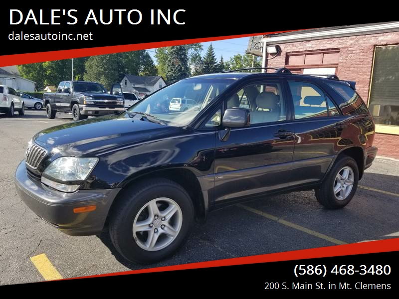 2001 Lexus Rx 300 Awd 4dr Suv In Mt Clemens Mi Dale S Auto Inc