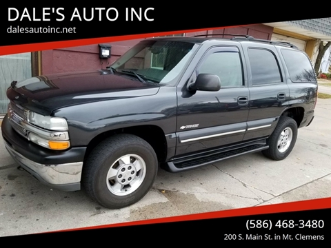 2003 Chevrolet Tahoe for sale at DALE'S AUTO INC in Mt Clemens MI