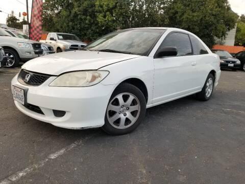 2004 Honda Civic LX for sale at City Motors in Hayward CA