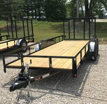 """2018 Heartland 76""""x18' tandem utility for sale at Gaither Powersports & Trailer Sales in Linton IN"""