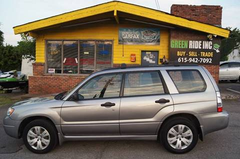 2008 Subaru Forester for sale at Green Ride Inc in Nashville TN