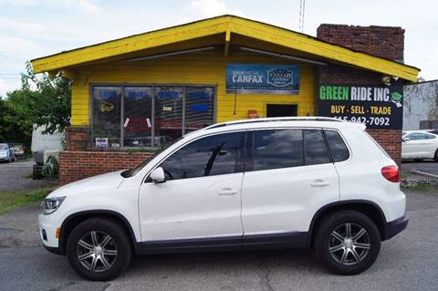 2012 Volkswagen Tiguan for sale at Green Ride Inc in Nashville TN