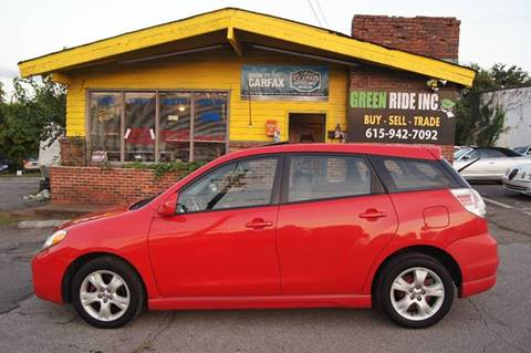 2006 Toyota Matrix for sale at Green Ride Inc in Nashville TN