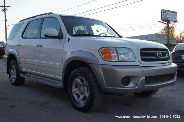 2001 toyota sequoia sr5 2wd 4dr suv in nashville tn green ride inc. Black Bedroom Furniture Sets. Home Design Ideas