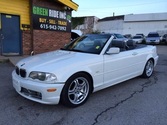 2002 Bmw 3 Series 330Ci 2dr Convertible In Nashville TN - Green Ride Inc