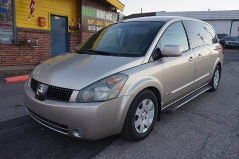 2004 Nissan Quest for sale at Green Ride Inc in Nashville TN