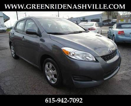 2010 Toyota Matrix for sale at Green Ride Inc in Nashville TN