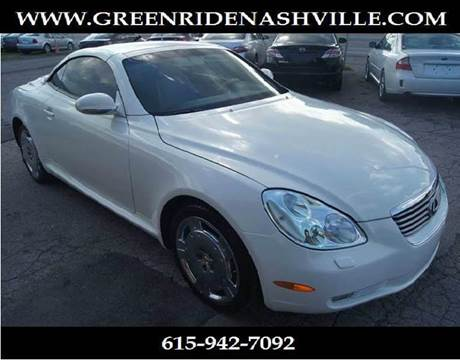 2003 Lexus SC 430 for sale at Green Ride Inc in Nashville TN