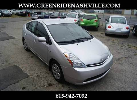 2009 Toyota Prius for sale at Green Ride Inc in Nashville TN