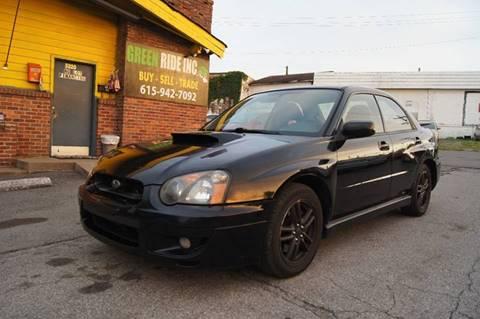 2005 Subaru Impreza for sale at Green Ride Inc in Nashville TN