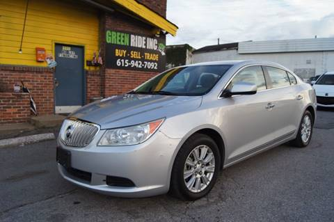 2010 Buick LaCrosse for sale at Green Ride Inc in Nashville TN