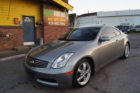 2006 Infiniti G35 for sale at Green Ride Inc in Nashville TN