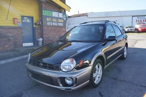 2002 Subaru Impreza for sale at Green Ride Inc in Nashville TN
