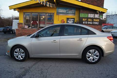 2013 Chevrolet Cruze for sale at Green Ride Inc in Nashville TN