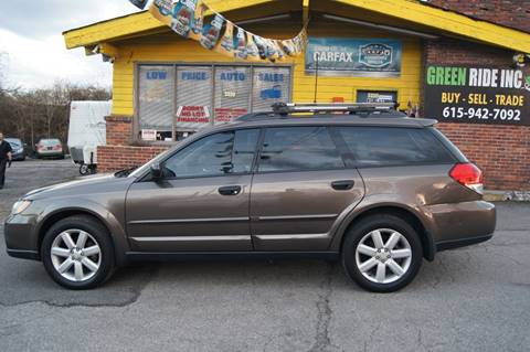 2009 Subaru Outback for sale at Green Ride Inc in Nashville TN