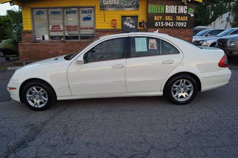 2007 Mercedes-Benz E-Class for sale at Green Ride Inc in Nashville TN