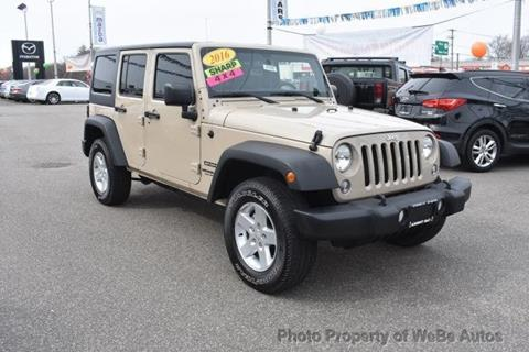 2016 Jeep Wrangler Unlimited for sale in Calverton, NY