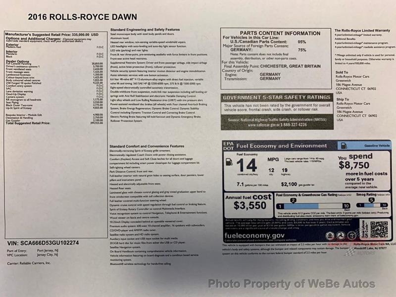 2016 Rolls-Royce Dawn 63
