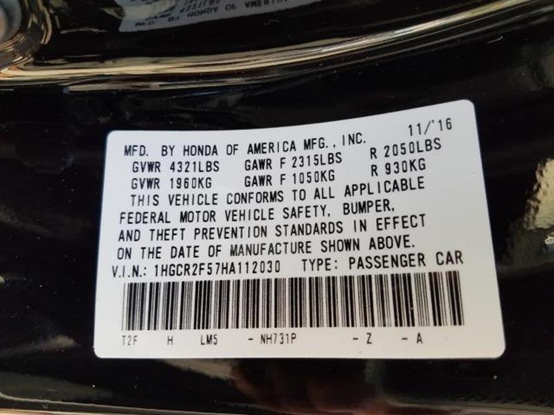 2017 Honda Accord 4