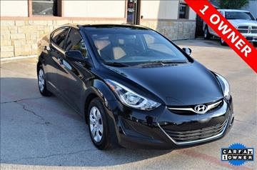 2016 Hyundai Elantra for sale at LAKESIDE MOTORS, INC. in Sachse TX