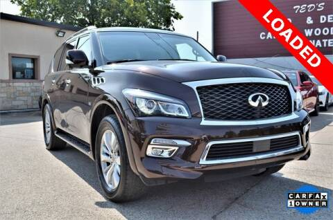 2017 Infiniti QX80 for sale at LAKESIDE MOTORS, INC. in Sachse TX