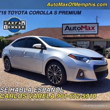 2015 Toyota Corolla for sale at AutoMax of Memphis - V Brothers in Memphis TN